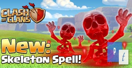 Skeleton Spell Update Terbaru Town Hall 9 Clash of Clans