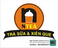 thiết kế logo trà sữa cà phê cafe ntea bình dương