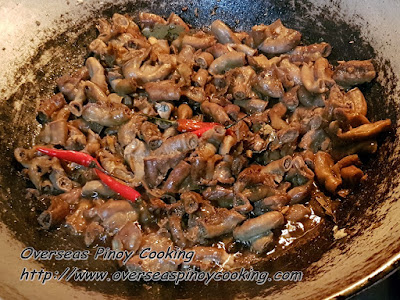 Spicy Adobong Isaw - Cooking Procedure