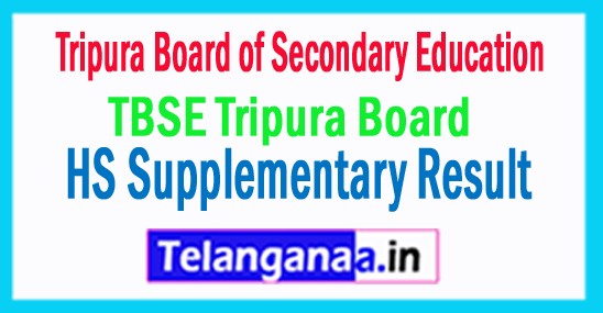 TBSE Tripura Board HS Supplementary Result 2017