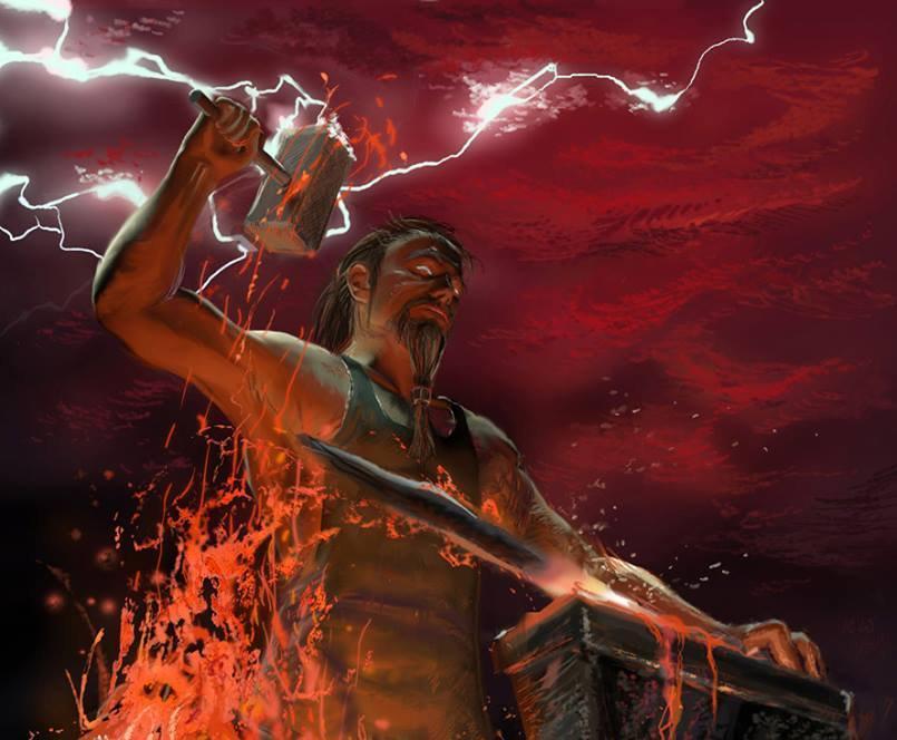 yunan mitolojisi, yunan tanrısı, ateş ve demir tanrısı, silah yapan tanrı, tanrı vulcan, tanrı ifestus, hephaistos, zeusun oğlu, zanaatkar tanrı, yunan tanrıları, mitoloji, din ve mitoloji,