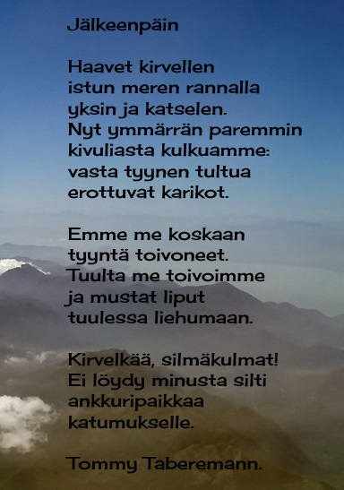 suomi24treffit tommy tabermann runo onnesta