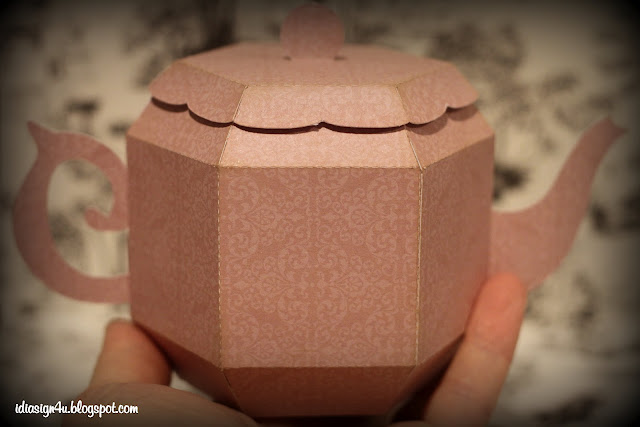 3D Paper Tea Pot | Silhouette File by ilovedoingallthingscrafty.com
