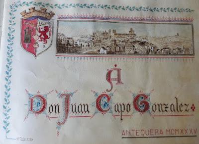 Homenaje a Juan Capó en Antequera en 1935
