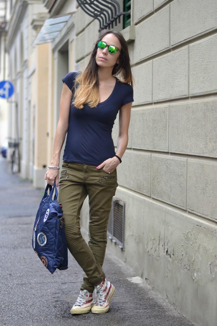 cargo pants verde militare