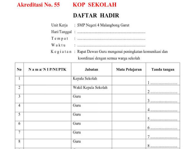 Download Bukti Fisik Akreditasi Instrumen No 55 Format doc