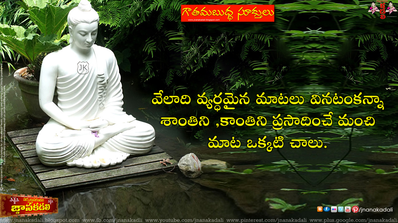Nice Wallpapers With Inspiring Quotes Gotham Buddha Quotations And Thoughts In Telugu Jnana