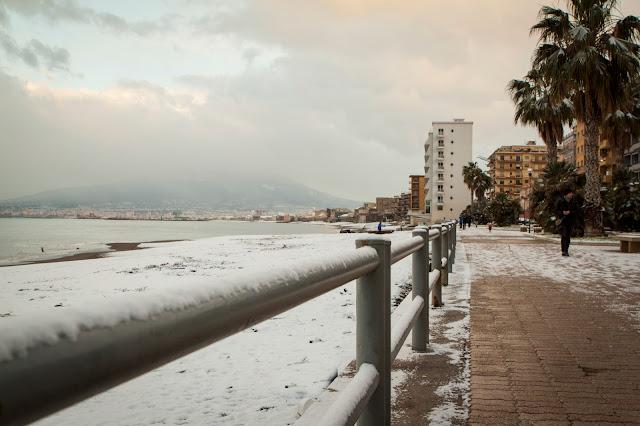 Nevicata a Castellammare di Stabia