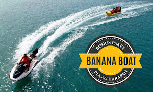 paket wisata pulau harapan free banana boat