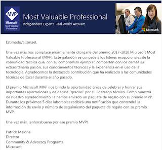 Excelforo: VIII aniversario y IV premio Microssoft MVP Excel.