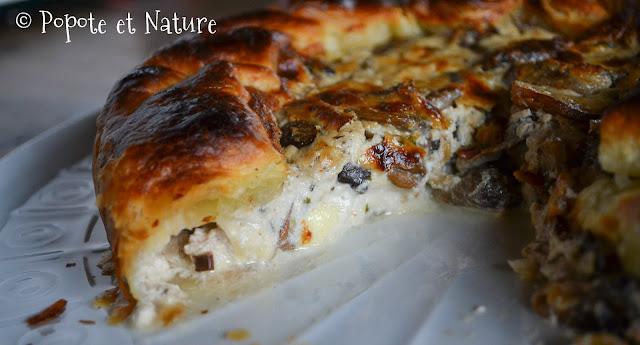 Feuilleté à la tomme fraîche et aux champignons © Popote et Nature