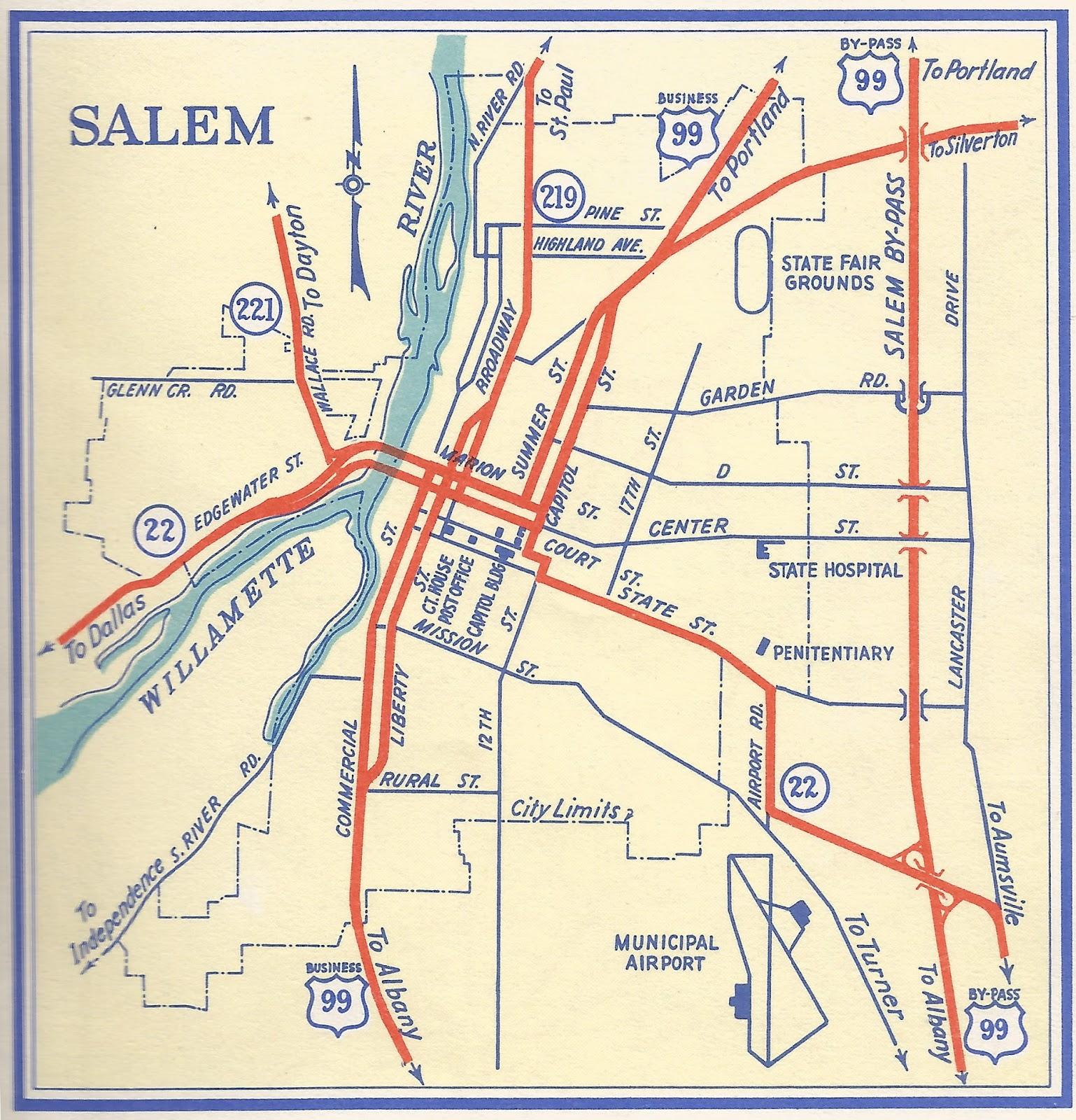 The ZehnKatzen Times maps Salem Oregon Within Her 1956 Boundaries