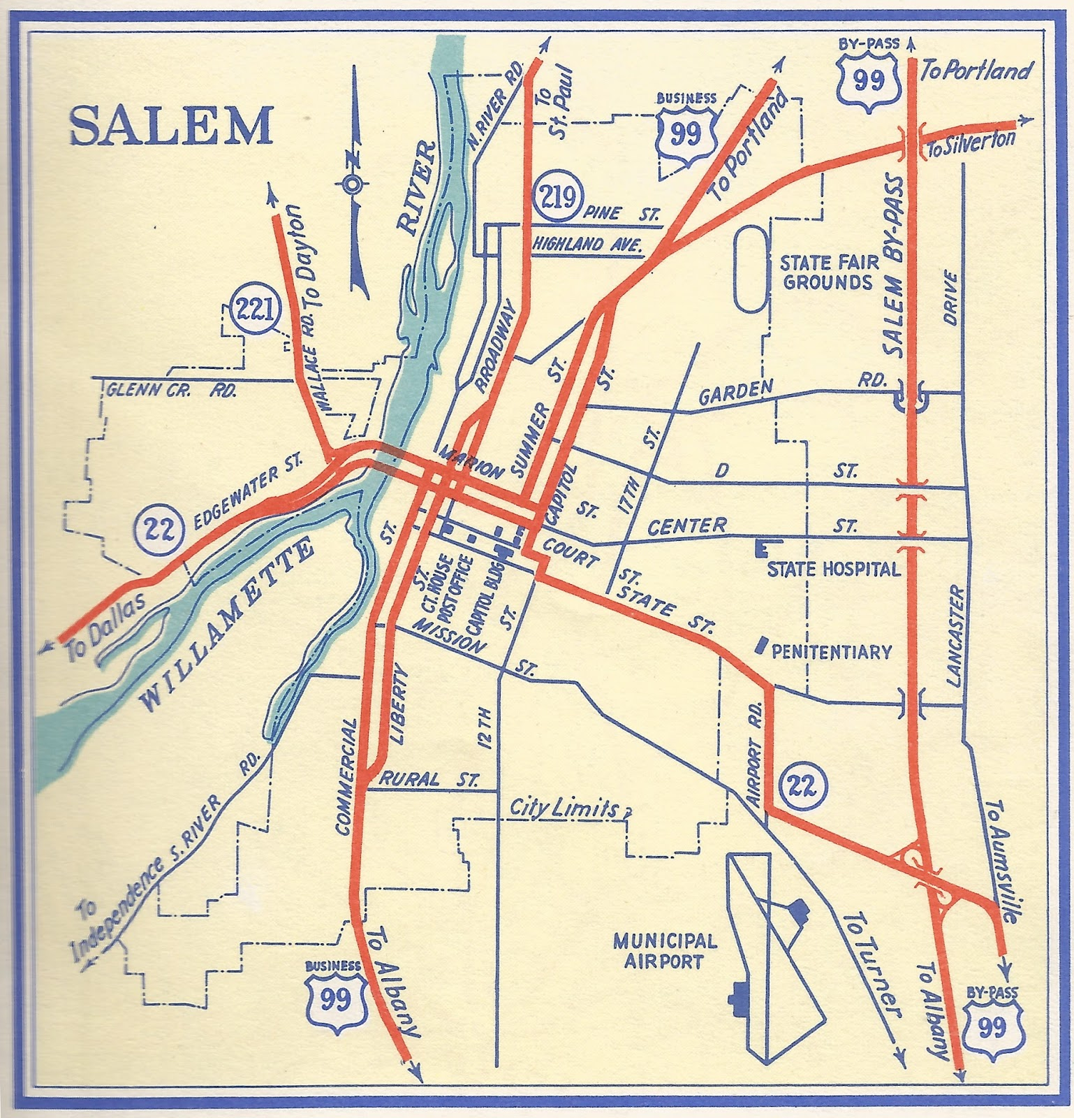 The ZehnKatzen Times: [maps] Salem, Oregon, Within Her 1956 ...