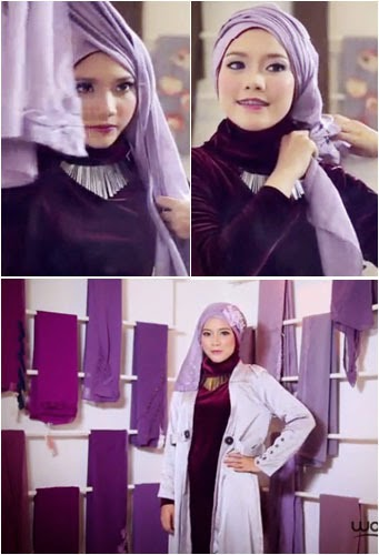 Tutorial Hijab Turban Untuk ke Pesta Pernikahan 2016