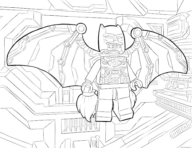 Lego Batman Fly Colouring Print Lego Batman Fly Coloring Pages