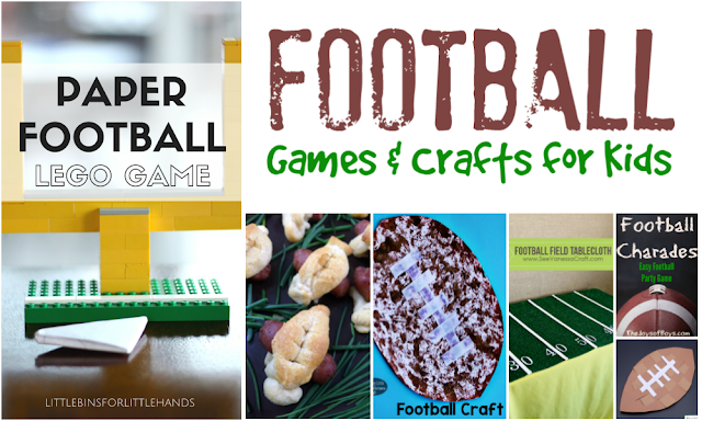 Football Themed Activities, Crafts and Games for Kids for GameTime