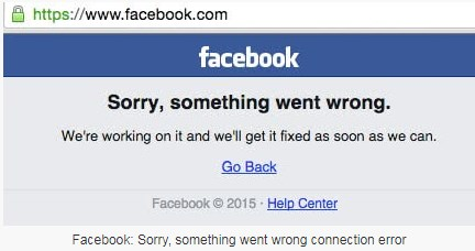 is facebook down today