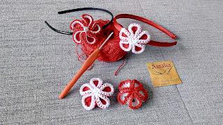 flor 3D crochet