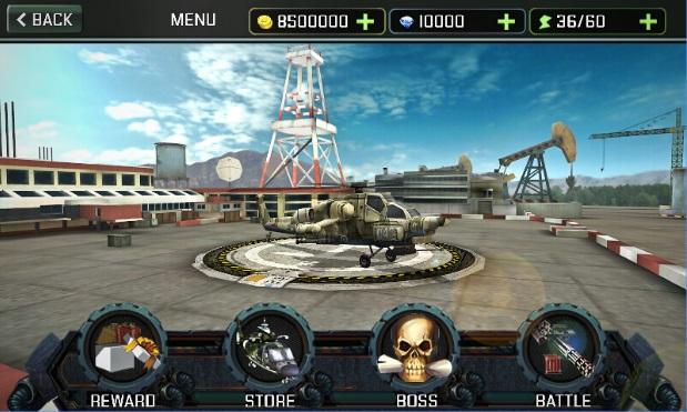 لعبة قتال الطائرات الحربية Gunship Strike