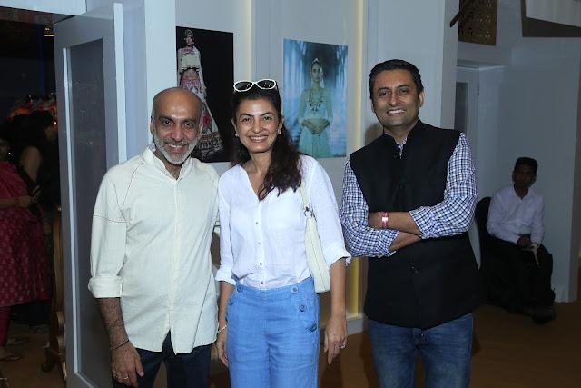 Designer Manish Arora (left) and Arjun Mehra, Publishing Director, Conde Nast India (right) with friend at Day 3 of Vogue Wedding Show 2016 at Taj Palace, New Delhi wedding fashion