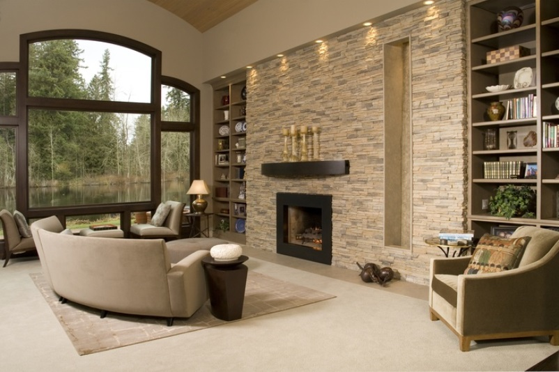 But If You Wish To Choose Rocks As Living Room Accent That Can Match With Living  Room Style Design And Other Elements In The Living Room, Your Choice Should  ... Part 59