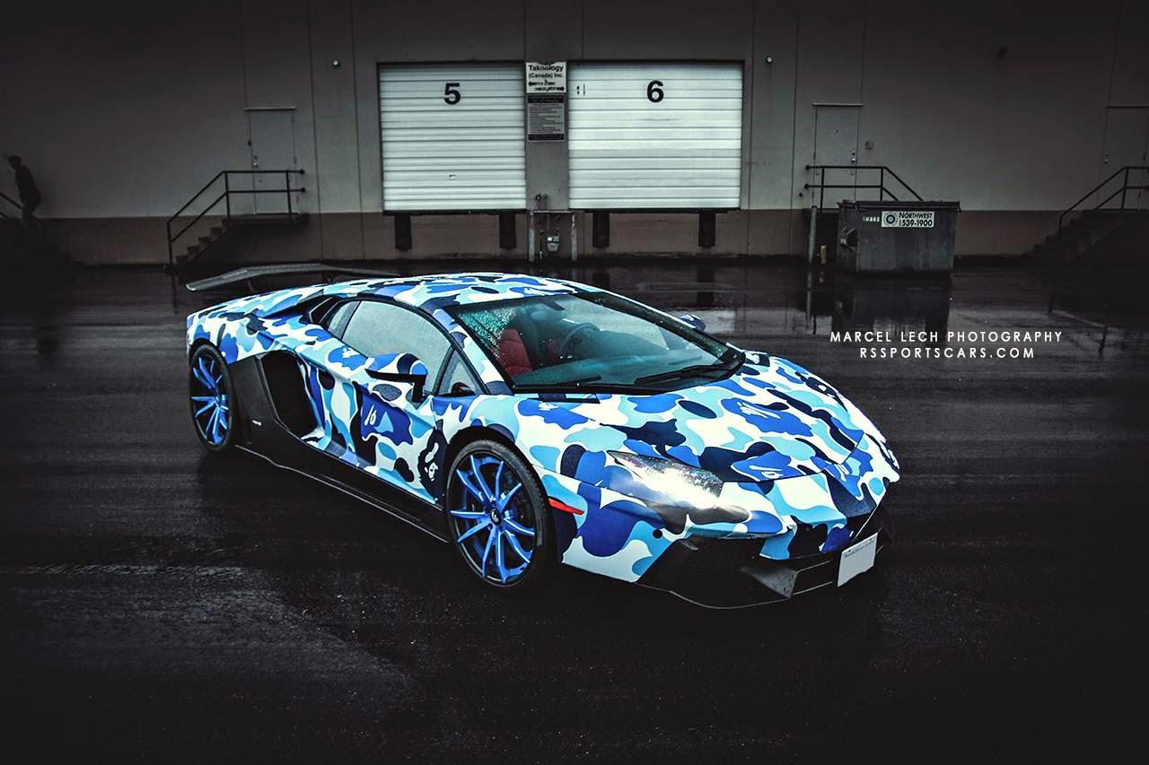 Arctic Camo Lamborghini Aventador By Marcel Lech