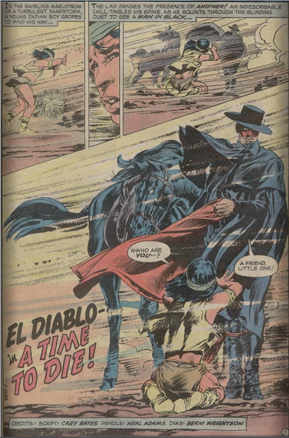 page from Weird Western Tales #12 (1972). Property of DC comics.