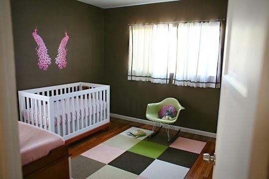 Dormitorios de beb en rosa y marr n dormitorios colores y estilos - Habitacion marron ...