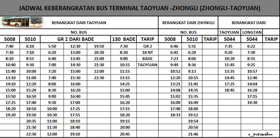 Jadwal Bus Zhongli