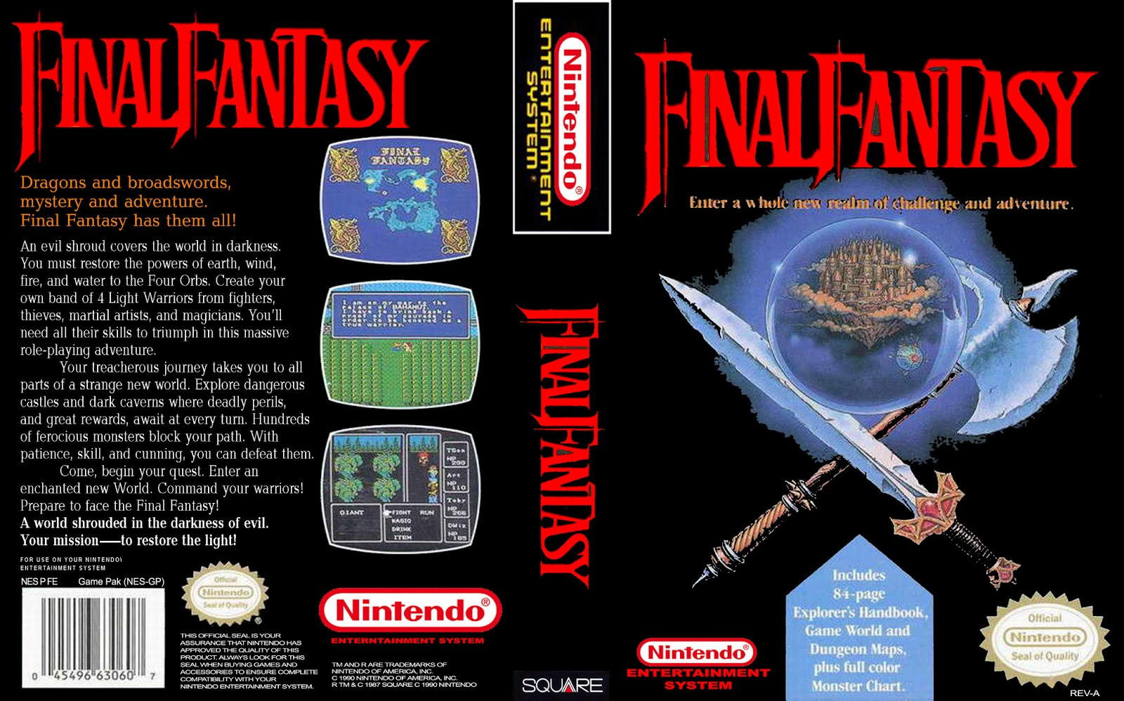 Final Fantasy 3 Snes Box Art