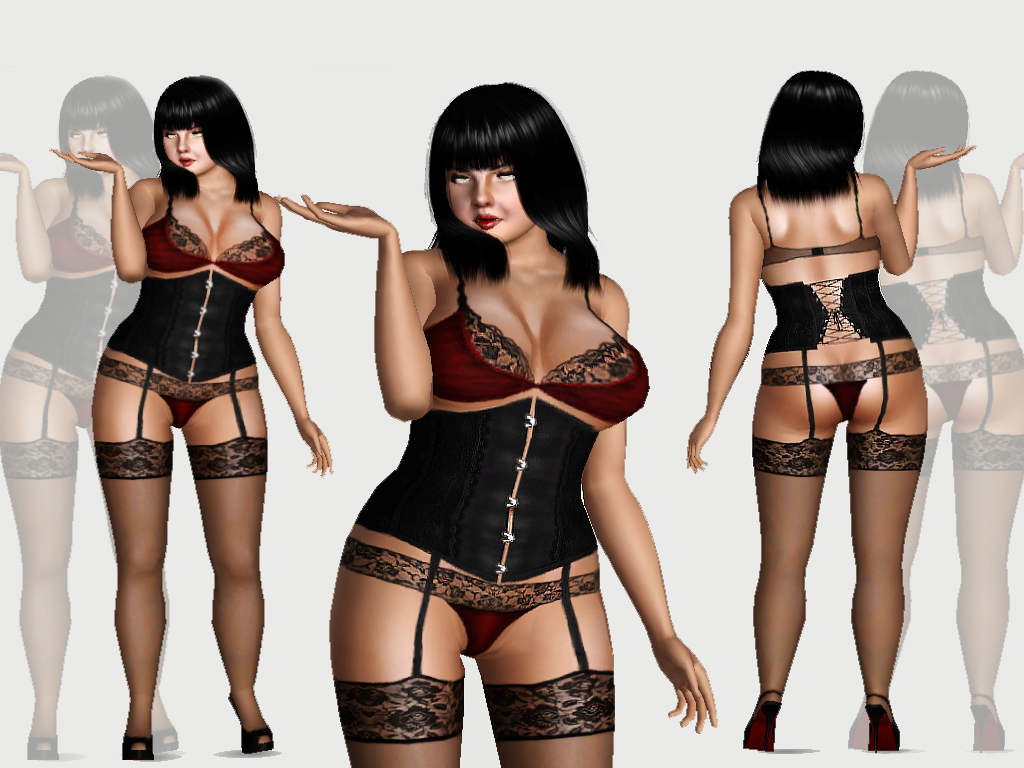 Empire Sims 3 Ghoulscout Lingerie Set By Wiktoria Von Frege