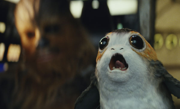 Introducing the adorable Porg in STAR WARS: THE LAST JEDI (2017)