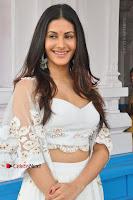Telugu Actress Amyra Dastur Stills in White Skirt and Blouse at Anandi Indira Production LLP Production no 1 Opening  0055.JPG