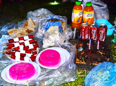Party food ready for the party at the mountain campsite hover_share