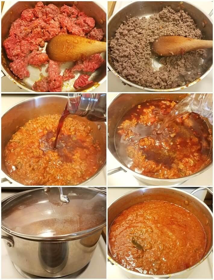 Paso a paso en la preparación de la salsa boloñesa, segunda parte