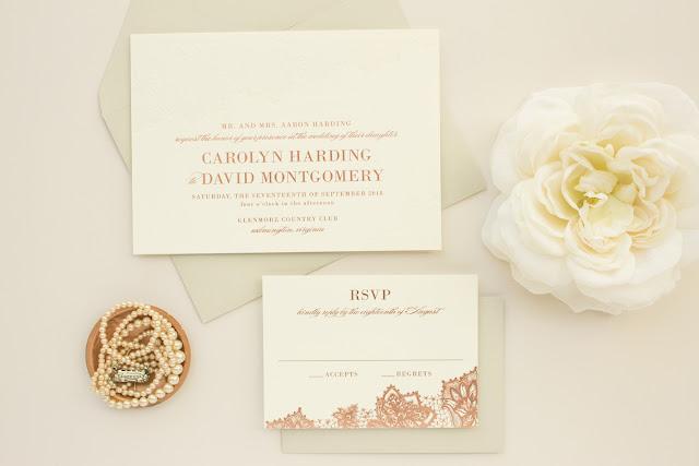 foil stamping wedding invites