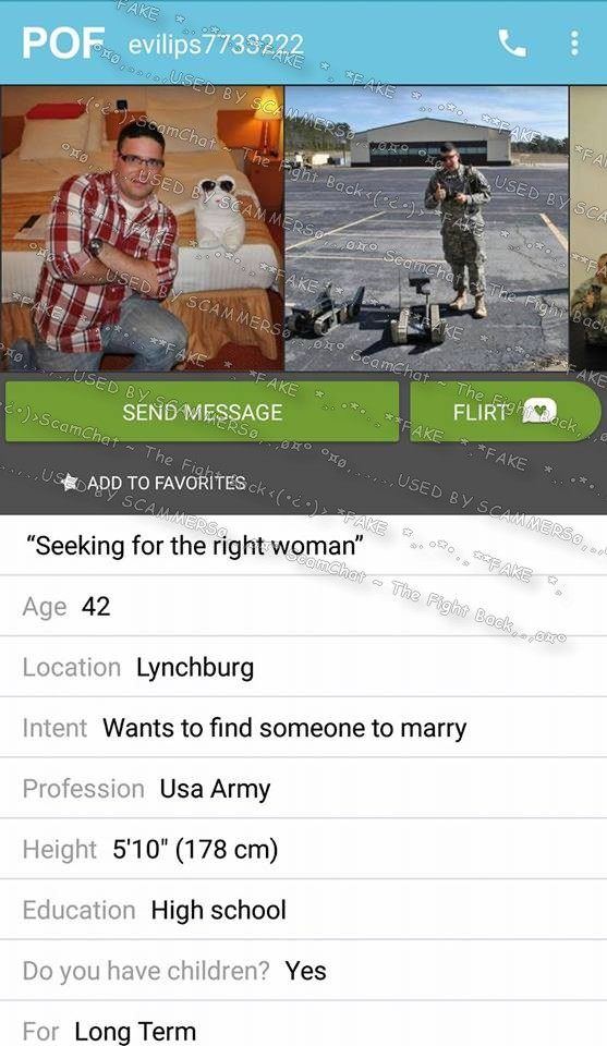 Scammers on pof dating site login