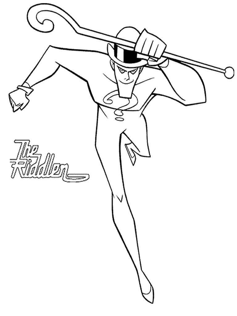 Batman Enemy Coloring Pages Realistic