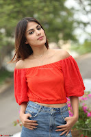 Rhea Chakraborty in Red Crop Top and Denim Shorts Spicy Pics ~  Exclusive 229.JPG