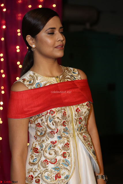 Anasuya in designer Anarkali Dress at Zee Telugu Apsara Awards 2017 03.JPG
