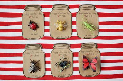 love bug valentine, allergy friendly valentine ideas, non candy valentine, mason jar valentine
