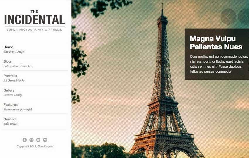 Incidental - High Class Photography WP Theme