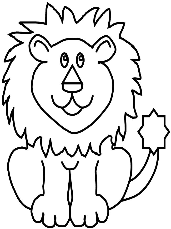 Exceptional Lion Animal Coloring Pages For Kids