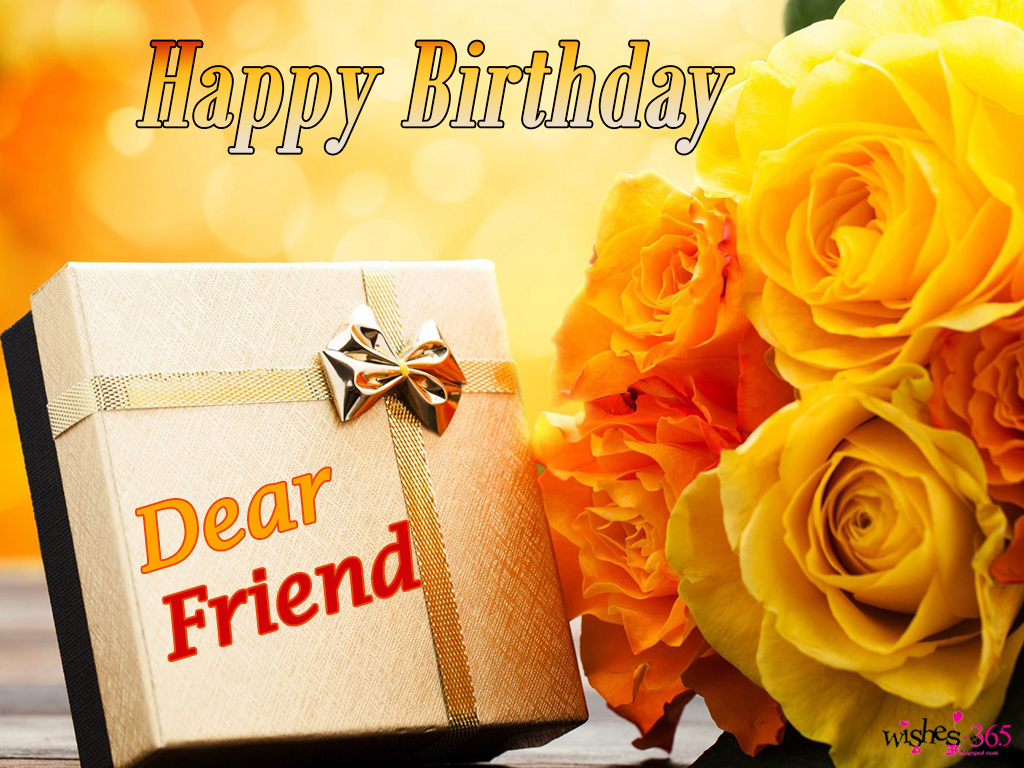happy birthday wishes for best friend with flowers