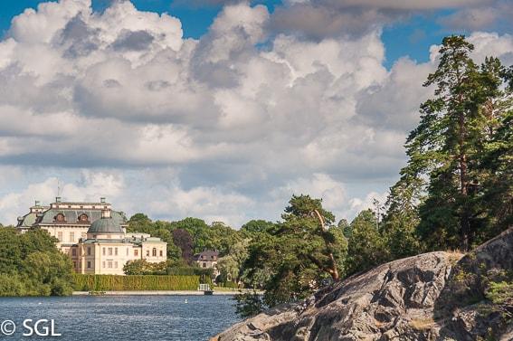 Vista del Palacio de Drottningholm. Estocolmo