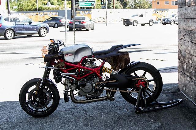 Michael 'Woolie' Woolaway's Custom Ducati Hypermotard Pike's Peak Racer