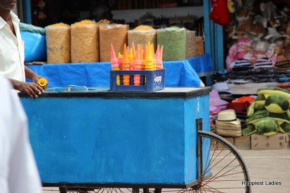 icecream stall at chamundi hill mysore india