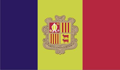Gambar Bendera Negara Andorra