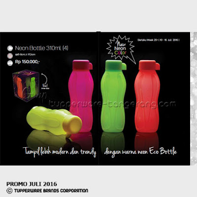 Neon Bottle 310ml ~ Katalog Tupperware Promo Juli 2016