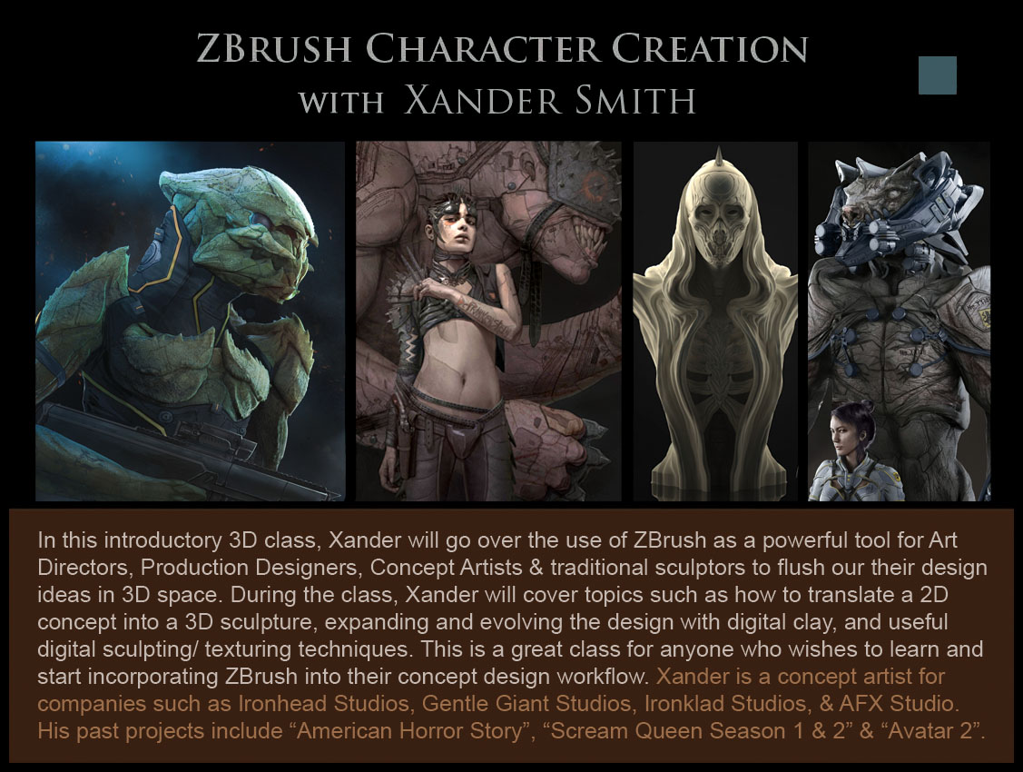 Zbrush Character Creation Schedule — Concept D...